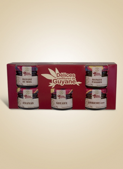 BOX WITH 4 JAMS 50G (Coffret 5 confitures 25g)