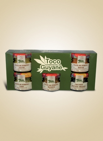BOX WITH 5 TOCO SAUCES 25G (Coffret 5 Toco 25g)