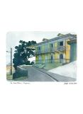 Aquarelle Joub maison de la rue Louis Blanc à Cayenne
