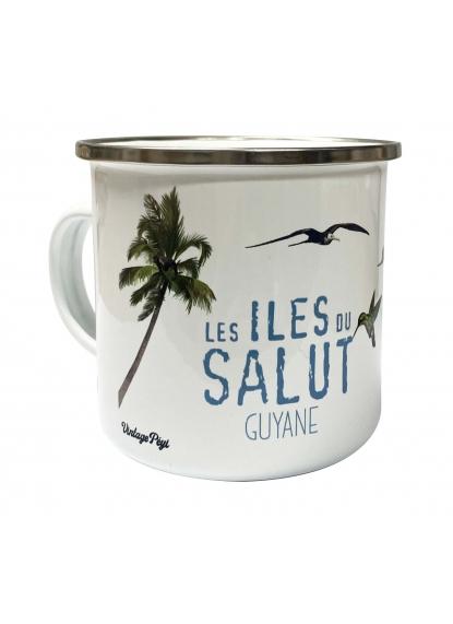 "Enamelled metal mug of Guiana ""Iles du Salut"""