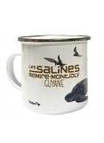 "Enamelled metal mug of Guiana "" Les Salines Remire-Montjoly"""