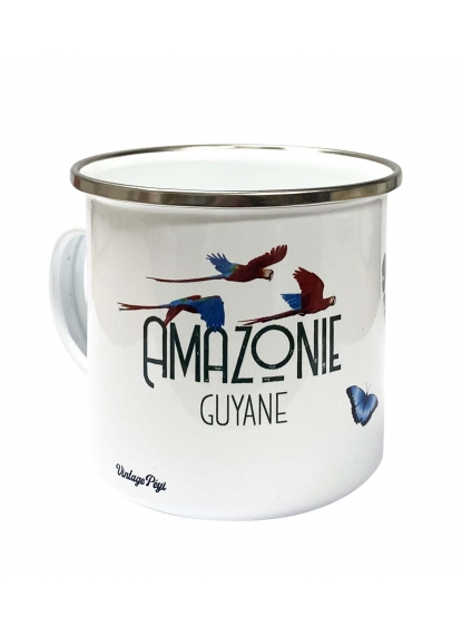 "Enamelled metal mug of Guiana ""Amazonie"""