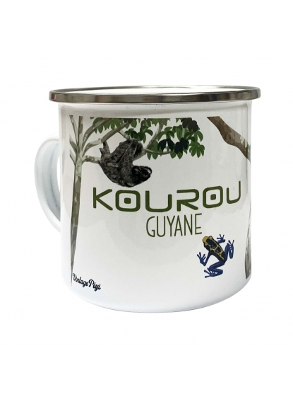"Enamelled metal mug of Guiana ""Kourou"""