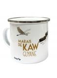 """Enamelled metal mug of Guiana """"Marais de Kaw"""""""