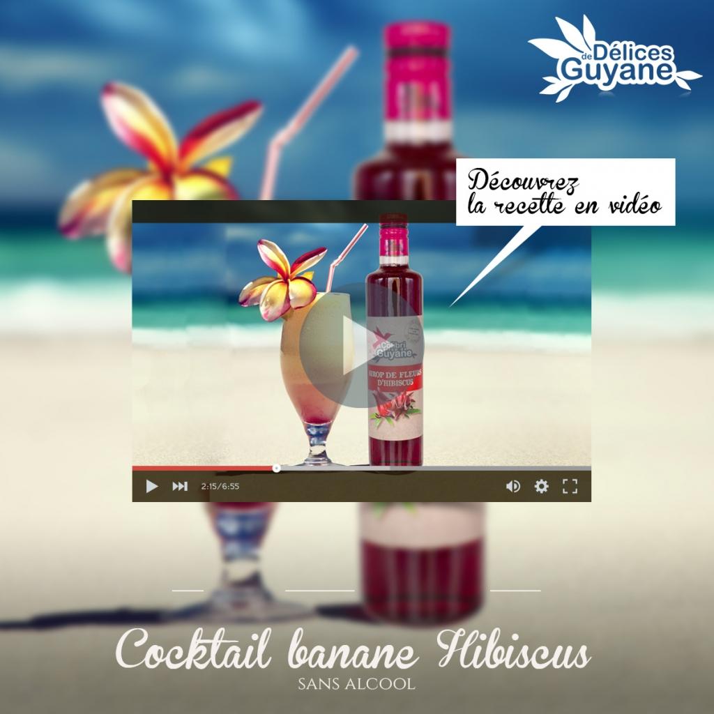 Cocktail sans alcool Bananibiscus