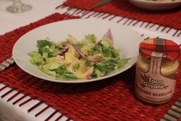 Salade au fruit défendu, sauce diablesse