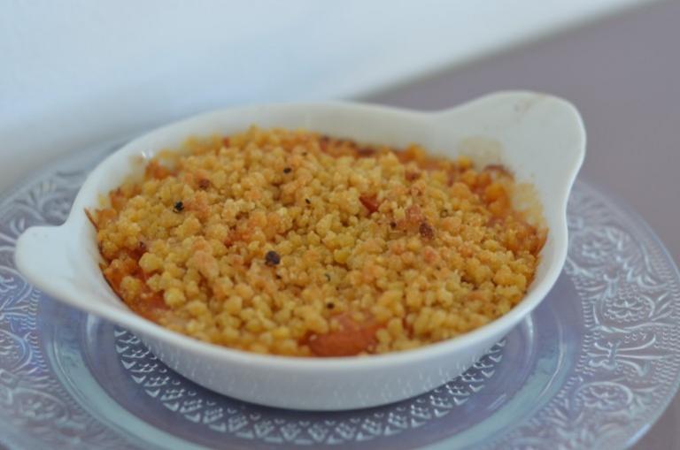 Crumble de tomates au couac