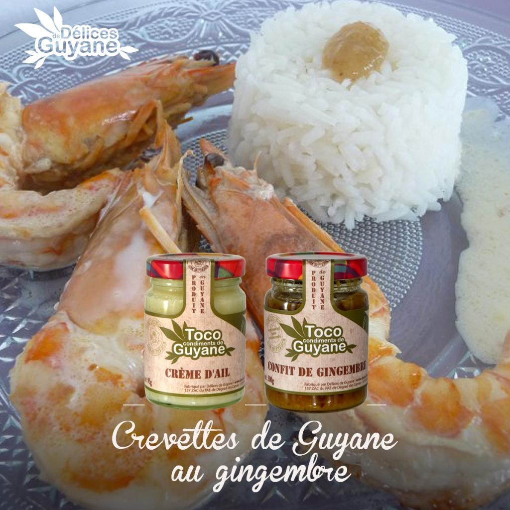 Crevettes de Guyane au gingembre