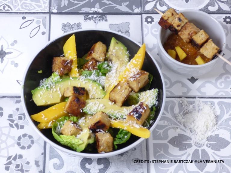 Tempeh mariné au chutney aux mangues
